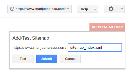 marijuana seo add a sitemap