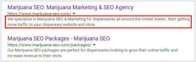 meta description seo cannabis