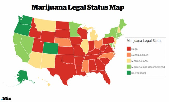 marijuana legal map