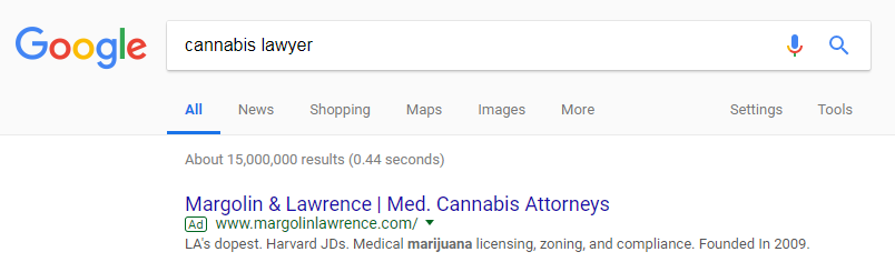 google ad cannabis lawyer