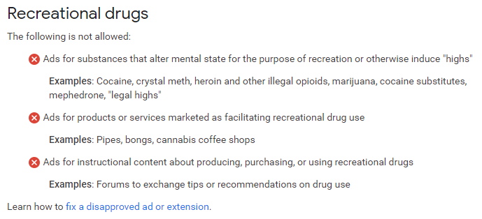 recreational drugs policy