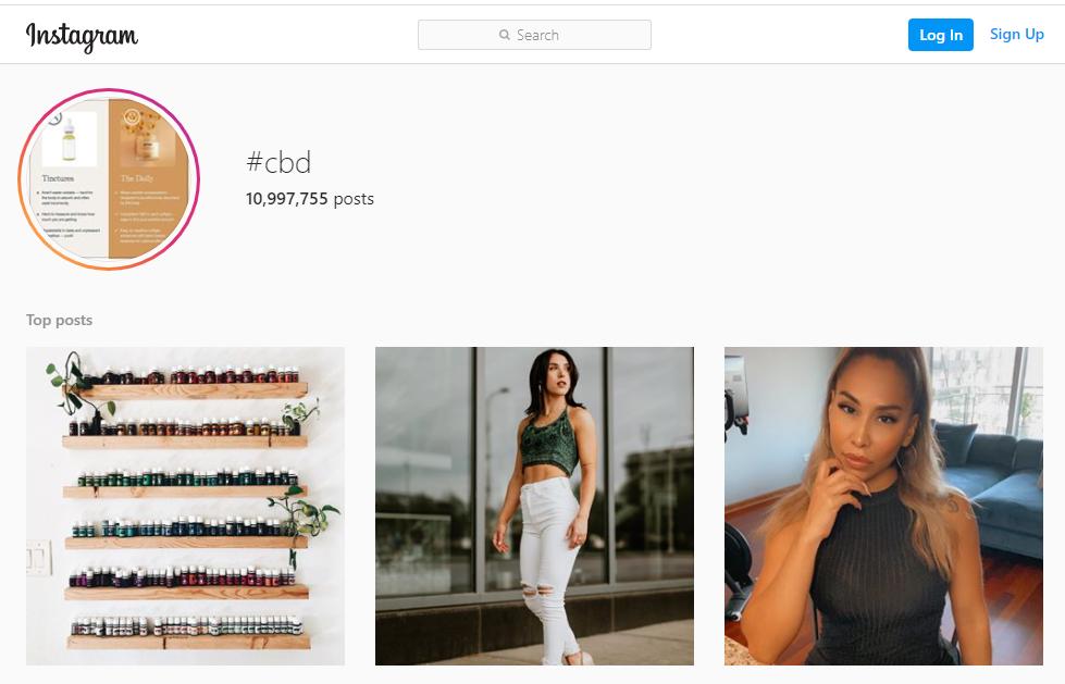 cbd hashtag instagram marketing