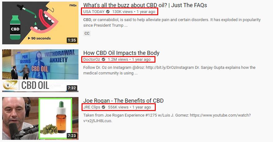 cbd marketing youtube
