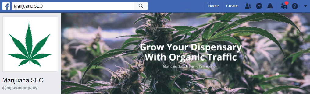 marijuana seo facebook