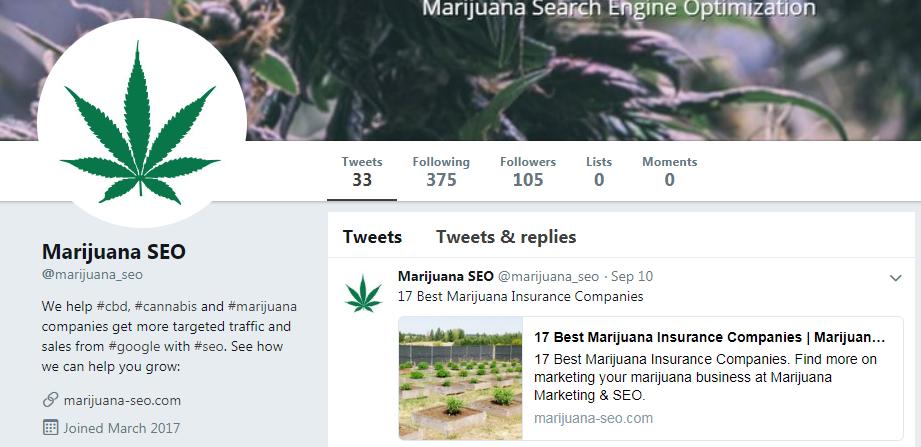 marijuana seo twitter
