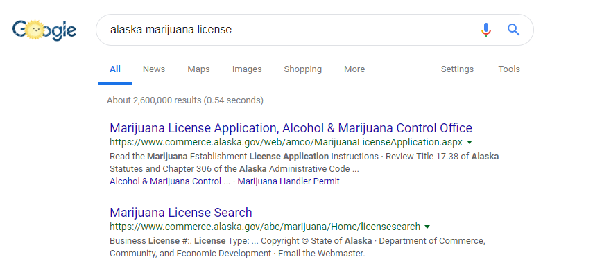 marijuana license search