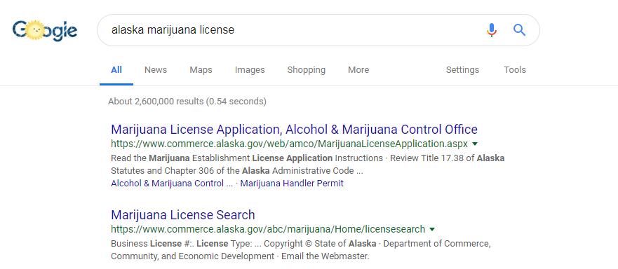 marijuana license search