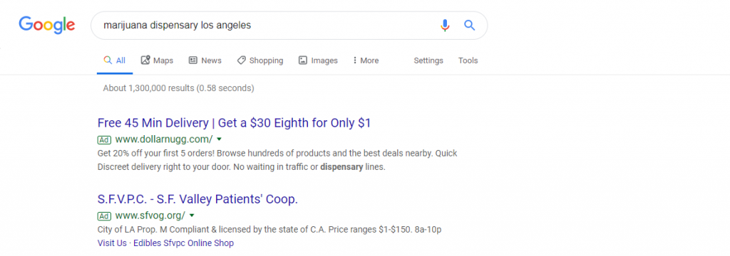 dispensary google ads