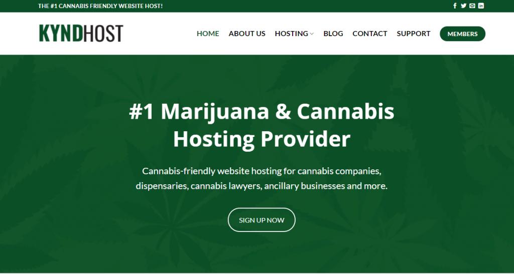 kynd host cannabis hosting