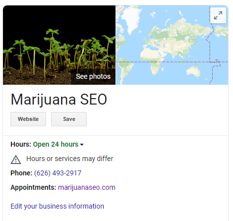 Google My Business for Cannabis Dispensaries 1