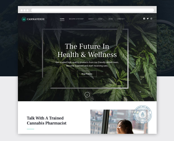 cannaverde theme for wordpress cannabusiness