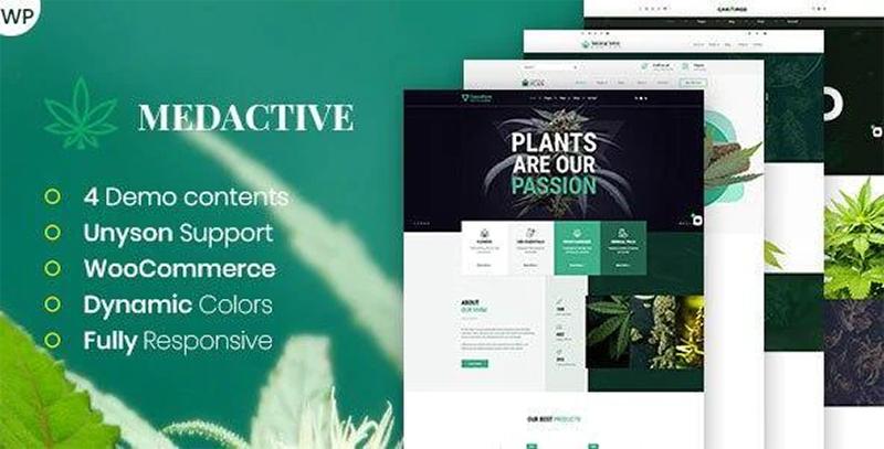 medactive wordprses theme for marijuana