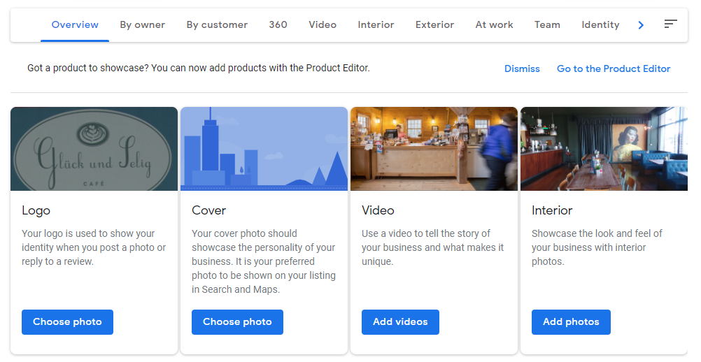 google my business images photos