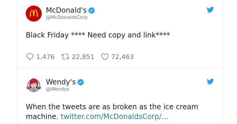 mcdonalds wendys twitter
