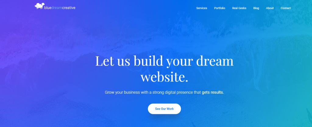 Blue Dream Creative website design for cannabis