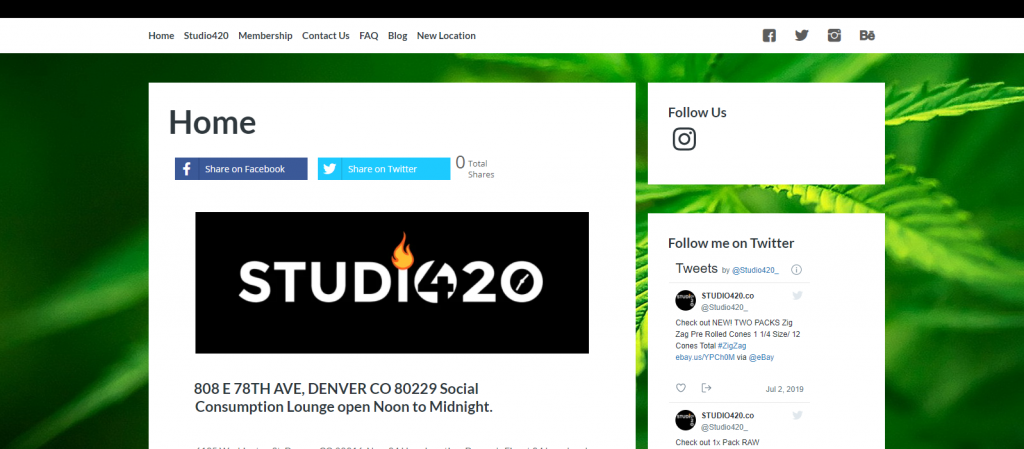 Studio 420 web design