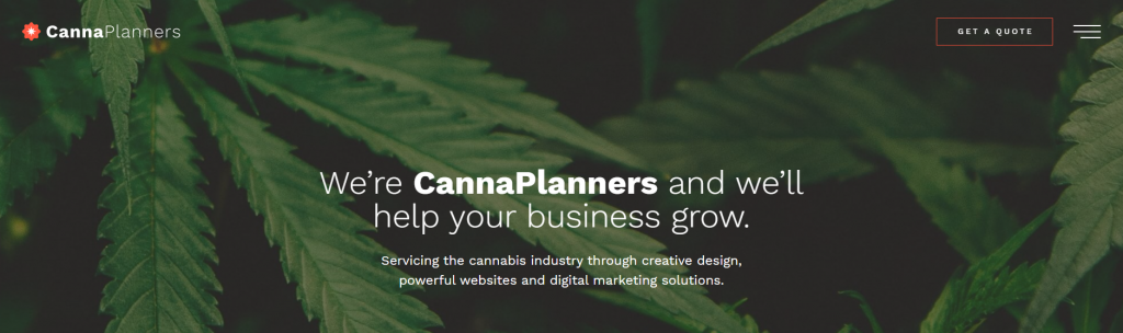cannaplanners web designers for cannabis